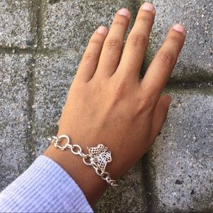 Peruvian Silver Butterfly Bracelet